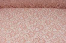 Krajka růžová, zlatý lurex, š.125