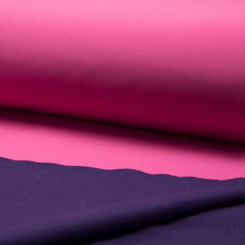 Softshell ružový, z rubu fialový, š.145
