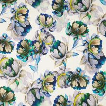Šatovka biela, béžovo-modré kvety, š.140