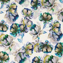 Šatovka bílá, béžovo-modré květy, š.140