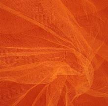 Tyl závojový oranžový š.180