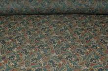 Elastický tyl, kašmírový vzor, š.145