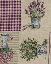 Dekorační látka NATALI, levandulový vzor, š.280