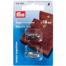 Magnetické zapínanie Prym na kabelku, mozazné, 19 mm