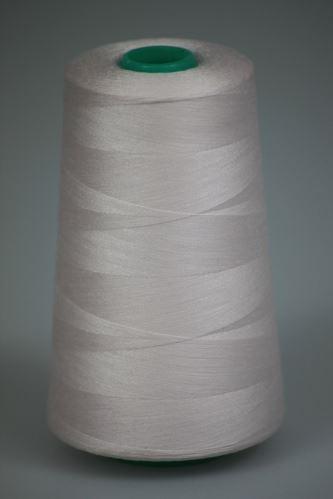 Nit KORALLI polyesterová 120, 5000Y, odstín 3405, růžová-bílá