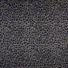 Kabátovina modro-černý zvířecí vzor, š.150