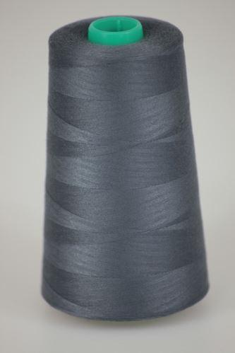 Niť KORALLI polyesterová 120, 5000Y, odtieň 9360, šedá