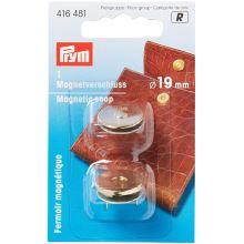Magnetické zapínanie Prym na kabelku, zlaté, 19 mm