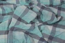 Košilovina tyrkysové káro s lurexem, š.130