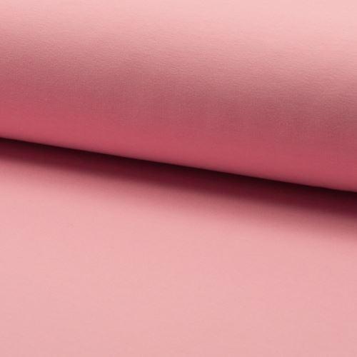 Teplákovina počesaná, světle růžová, š.155