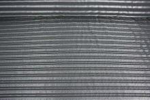 Košeľovina šedá, strieborný pruh, š.155