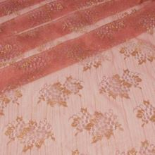 Krajka růžová, stříbrnozlatý lurex, š.130