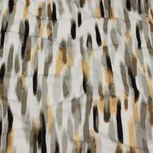 Úplet bílý, hnědo-šedý žíhaný vzor, š.155