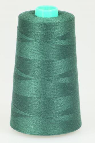Niť KORALLI polyesterová 120, 5000Y, odtieň 6650, zelená