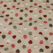 Bavlna béžová, jahody, š.140