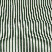 Bavlna zeleno biele pruhy, š.140