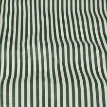 Bavlna zeleno bílé pruhy, š.140
