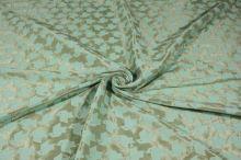 Kostýmovka zelenozlatá vzor, š.150