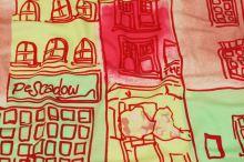 Úplet farebný, vzor domy, š.155