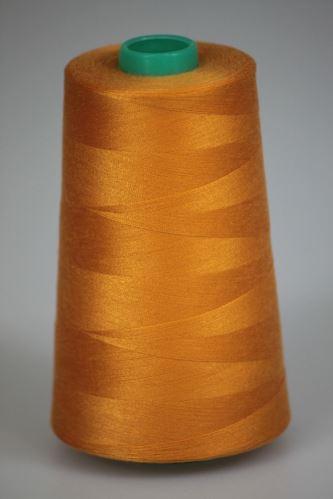 Niť KORALLI polyesterová 120, 5000Y, odtieň 2140, oranžová