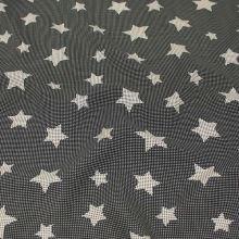 Šatovka čierna, biele bodky a hviezdičky, š.145