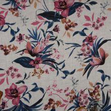 Šatovka 21760 šedá, barevné květy, š.140