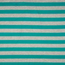 Úplet žebrový, zeleno-šedý pruh, 180g/m, š.145