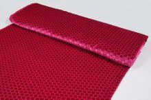 Šifon růžový, sametový puntík, š.135