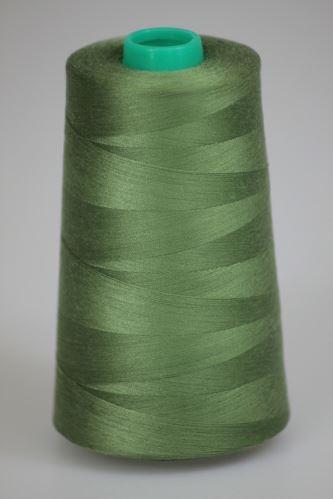 Niť KORALLI polyesterová 120, 5000Y, odtieň 6365 zelená