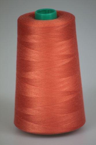 Niť KORALLI polyesterová 120, 5000Y, odtieň 2340, oranžová-ružová