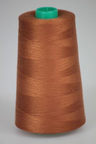 Niť KORALLI polyesterová 120, 5000, odtieň 8140, hnedá-oranžová