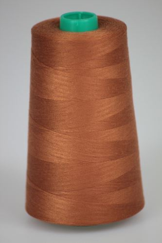 Niť KORALLI polyesterová 120, 5000Y, odtieň 8140, hnedá-oranžová