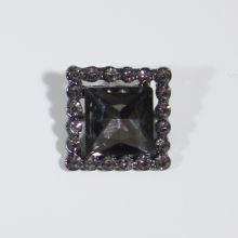 Štrasová ozdoba K19F, 19 x 19 mm