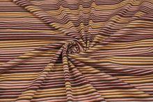 Úplet hnědý, barevné proužky, š.140