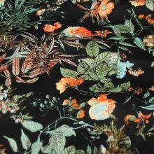 Bavlna čierna, farebný kvet, š.145