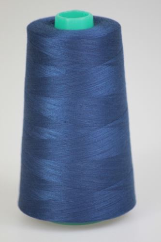 Niť KORALLI polyesterová 120, 5000Y, odtieň 5475, modrá