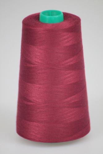 Niť KORALLI polyesterová 120, 5000Y, odtieň 2680, červená-fialová