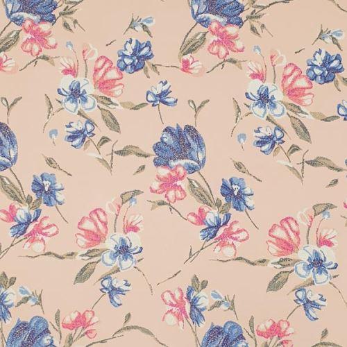 Šatovka broskyňová, kvetinový vzor, š.145