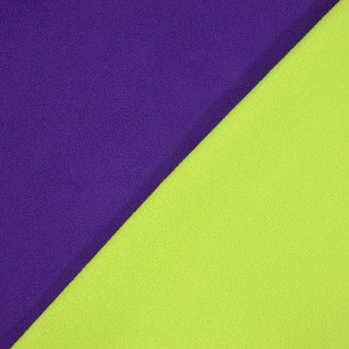 Fleece oboustraný, fialovo-zelený, š.145