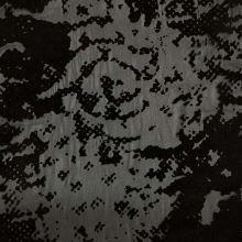 Šifón 06840 čierny, čierny flock, š.140