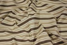 Košeľovina 06462 béžová, hnedý pruh, š.140