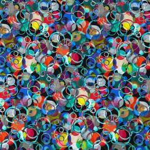 Úplet, barevné puntíky a kruhy, š.175