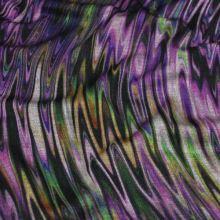 Úplet duhový, fialovozelený vzor š.150