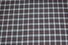 Košeľovina káro tmavo hnedá-biela-červená, š.140