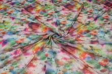 Elastický tyl 15553, barevný květ, š.160