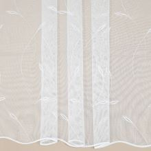 Záclona biela, vyšívané vetvičky, v.175cm