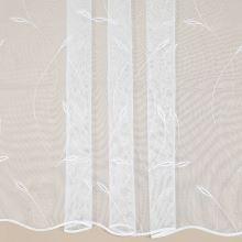 Záclona bílá, vyšívané větvičky, v.175cm
