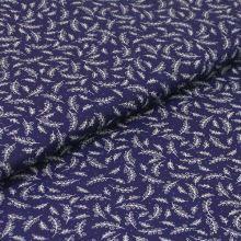 Bavlnené plátno modré, drobné biele vetvičky, š.140