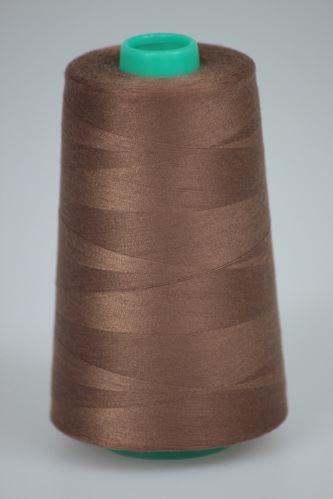 Niť KORALLI polyesterová 120, 5000Y, odtieň 8340, hnedá