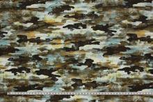 Šatovka zelená, army vzor, š.145